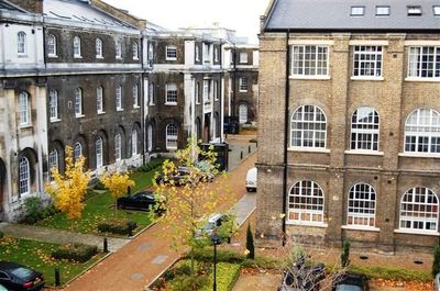 Grade II Listed Buildings, Gated Historic Courtyard, Flat View