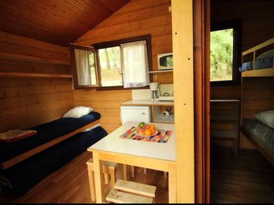 Photo for Camping Lake Causse *** - Ecolodge Wood Eco 2 rooms 2/4 people