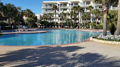 Pool view entering from beach walkover