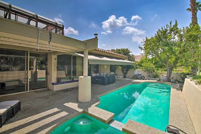 This vacation rental townhome features a private pool.