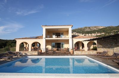Photo for Villa Sabina - Prestigious villa with a magnificent view of Calvi bay