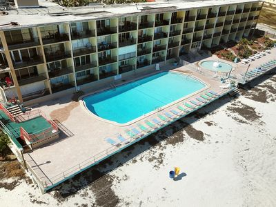 Photo for NEW LISTING! Oceanfront studio with shared pool in the heart of Daytona!