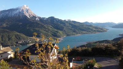 Photo for Chalet overlooking the lake of Serre-Ponçon near Embrun