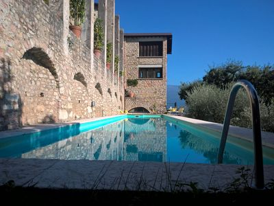 Photo for Spectacular historical Limonaia for 18 with breathtaking lake views, private poo