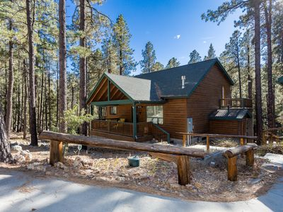 Photo for 3BD Modern Cabin in Walker with 2.5 Acres in the Pines and Massive Deck