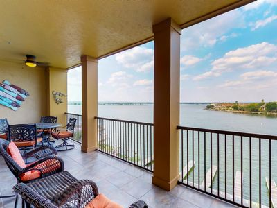 Photo for Waterfront condo w/ pristine shared pool