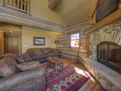 Photo for Lovely Forest & Mountain Views! Enjoy The Deck Fire Pit And Private Hot Tub!