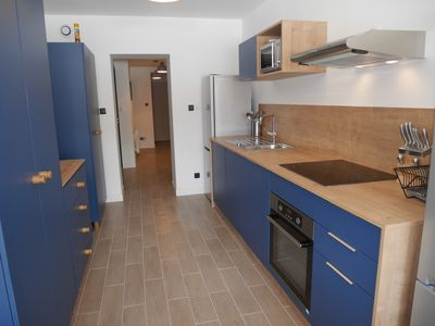 Photo for Nice new and modern apartment, center, departure ski 150m, 18/20 pers, reduc material
