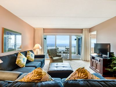 Photo for 2 Bed/2 Bath Oceanfront condo with renovated baths, sleeps 6 guests.  Oceanfront balcony and pool.