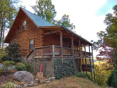 Photo for Awesome View 2 Bedroom Cabin with Mountain Views