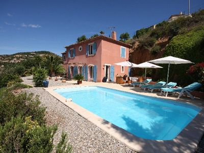 Photo for Provencal countryside house with a pool overlooking the Valcros golf course