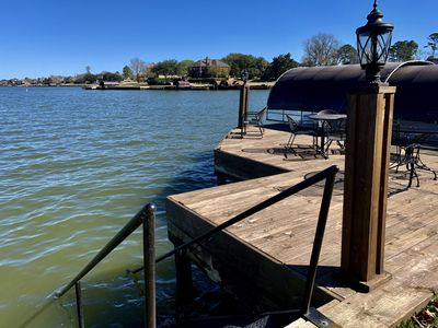 Photo for Spacious Luxury Lakefront, Open Water,  Hot Tub,  Dock, Huge Yard & Deck!
