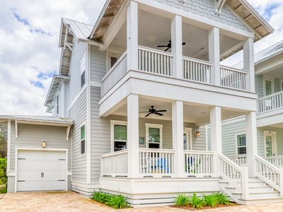 Photo for Gorgeous new, family-friendly home w/ a shared pool & hot tub - near beaches!