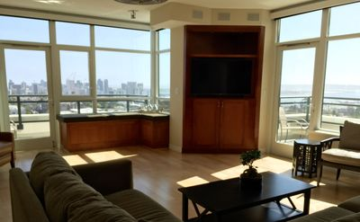 Photo for STUNNING 12th FLR BAY/PARK/DOWNTN VIEWS! 2 BALCONIES! JULY 15-AUG 15 STILL AVAIL