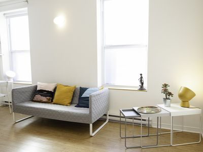 Photo for Modern and chic Plateau Mont Royal flat, perfect for groups!