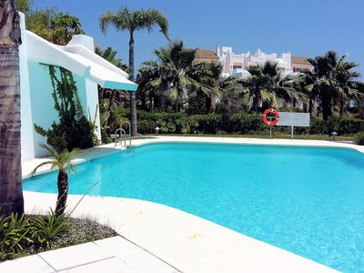 Photo for Modern apartment with  paradise lagoon, private garden and 4 km from the sea