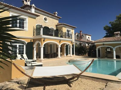 Photo for Luxury villa near the beach: panoramic sea view, heated infinity pool and Wi-Fi