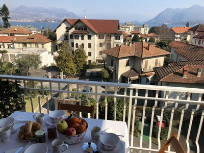 Photo for Beth beautiful apartment in the center of Stresa with panoramic view