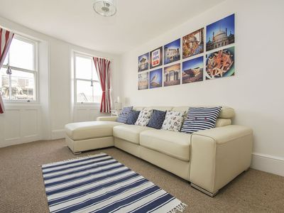 Photo for Montpelier Road Apartment: 2 bed, sleeps 6, sea views, centrally located, wifi