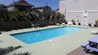 Pool in front of unit