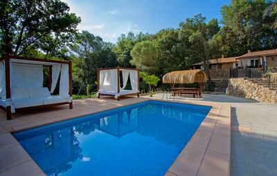 Photo for Beautiful house with private pool in Binibona on the edge of the Tramuntana mountains