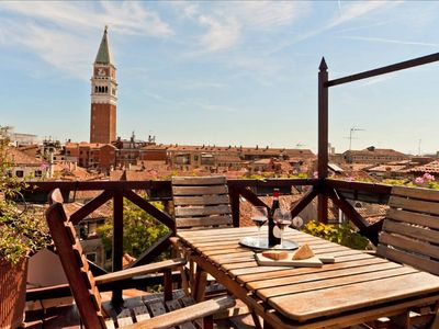 Photo for SAN MARCO! Stunning Penthouse with terrace!
