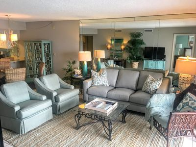 Den with Queen sofa bed and large flat screen TV