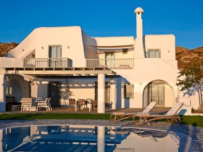 Photo for PRIVATE VILLA MERAVIGLIA NAXOS ISLAND. 4 BEDROOM WITH LARGE POOL IN SHORT DISTANCE FROM 4 BEACHES.