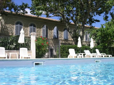 Photo for Apartment near St Remy in XVII Century Priory with large, heated pool