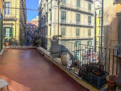 Photo for Apartment in the center of Naples with Internet, Air conditioning, Lift, Terrace (1024104)