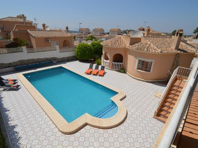 Photo for Villa with large private pool and cozy lounge terrace with outdoor kitchen