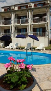 Photo for Holiday apartment to feel good with pool, fantastic sea view, air conditioning, 2-4Pers.