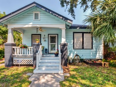 Photo for Peaceful Galveston Bungalow Just Feet from Beach!