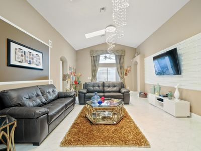 Photo for Welcome to The Magic Modern Castle, 3 miles from Disney World, southfacing pool