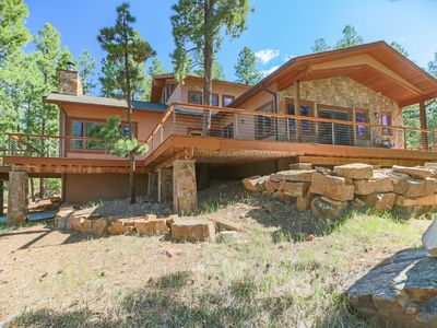 Photo for Beautiful home located in Elk Park Reserve with wooded, mountain setting.