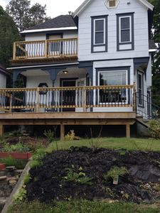 Front of house with new decks