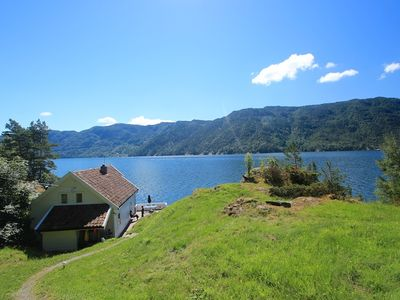 Photo for Holiday house in a quiet location with a panoramic view of the fjord