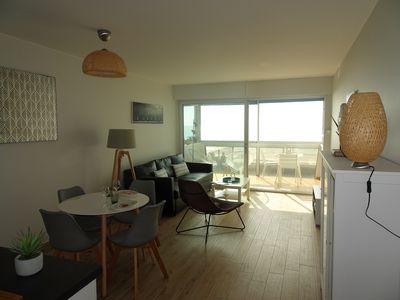 Photo for Exceptional sea view T2 new - Direct access to the beach - Parking
