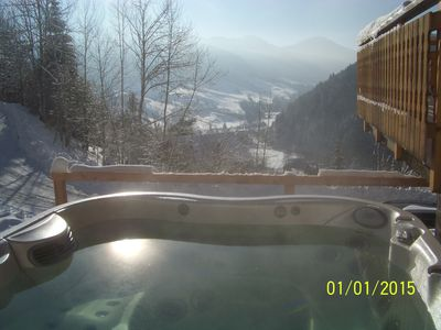 Photo for Apartment in a mountain chalet overlooking the valley and the ski slopes