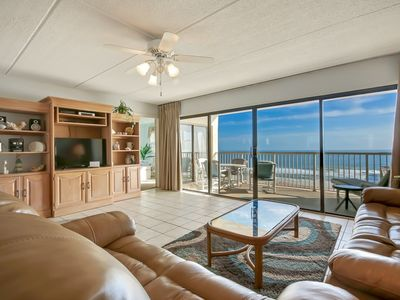 Modern and Beautiful  7th Floor 3 Bed/2 Bath Oceanfront condo that sleeps 7.. Laundry in unit. Amenities include pool, community grills, private fishing pier and tennis courts!