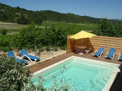 Photo for Villa with private heated pool , in the vineyard, 25 km away from the sea