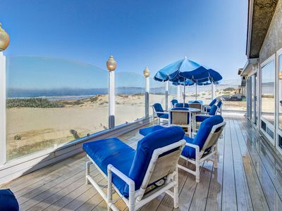 Photo for Beachfront home perfect for relaxing indoors and taking in the sun and surf!