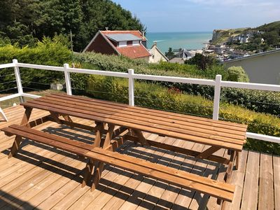 Photo for VILLA NEUVE: EXCEPTIONAL SEA VIEW AND CRAGS - ACCESS TO BEACH FOOT