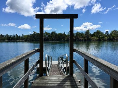 The dock - perfect for launching kayaks. Please note it is tidal