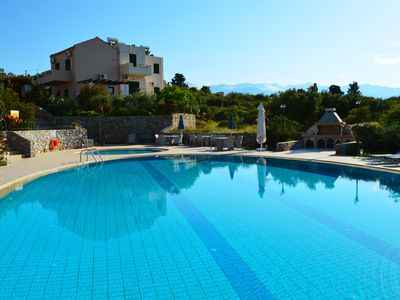 Photo for Villa with big shared pool Surrounded by nature, 2bedrooms, wifi, bbq, very quiet