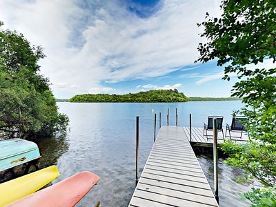 Photo for Lakefront 2BR Cottage w/ Screened Porch, Large Yard & BBQ – Newly Updated!