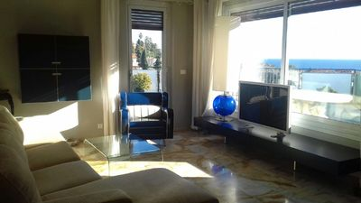 Photo for Penthouse terrace with sea view and hill 3 bedrooms 900 meters from the sea with box
