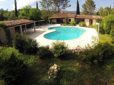 Photo for BEAUTIFUL VILLA 215m2, HUGE OPEN TERRACE AND POOL 12x10 M,