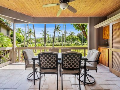 Photo for Fairway View from Lanai w/Wet Bar! Kitchen+Laundry Perks, Ceiling Fans, WiFi–Kanaloa 901