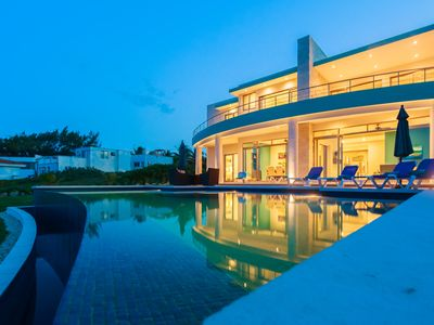 Photo for CASA FLOR DE MAYO OCEANFRONT WITH LARGE INFINITY POOL